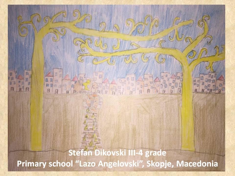Gustav Klimpt art lesson-drawings III grade (11)