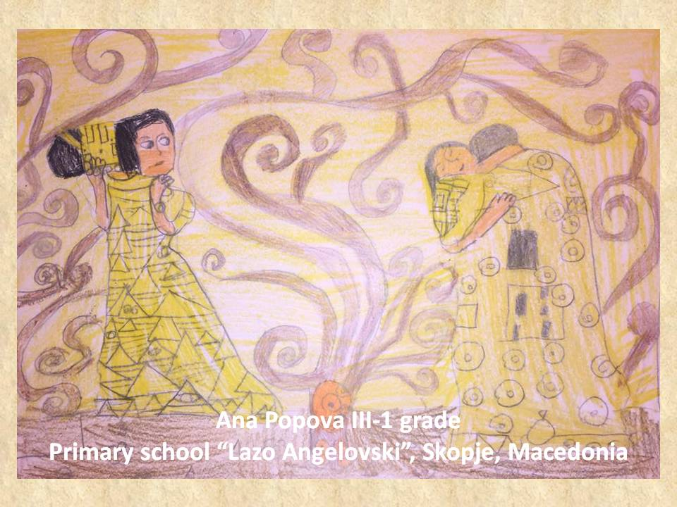 Gustav Klimpt art lesson-drawings III grade (37)