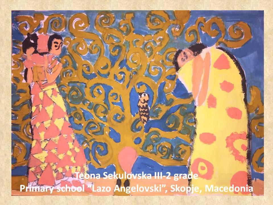 Gustav Klimpt art lesson-drawings III grade (42)