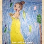 Gustav Klimpt art lesson-drawings III grade (5)