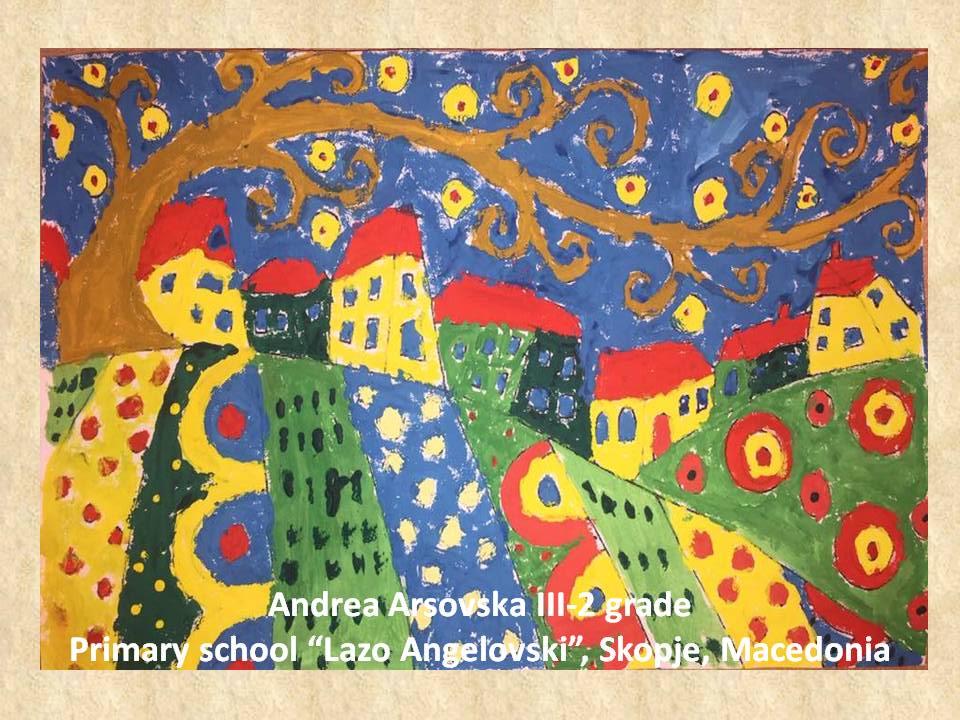Gustav Klimpt art lesson-drawings III grade (54)