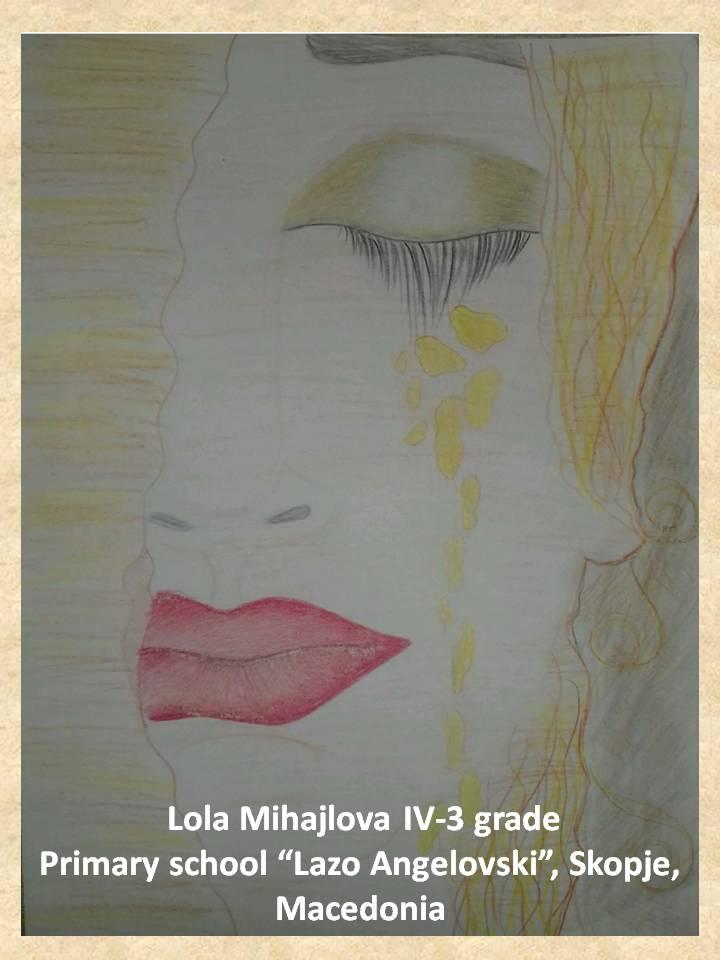 Gustav Klimpt art lesson-drawings IV grade (26)