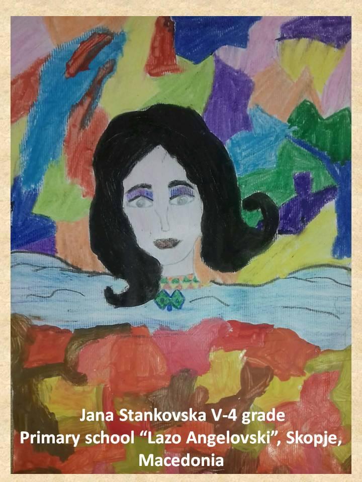 Gustav Klimpt art lesson-drawings V grade (1)