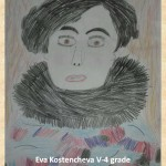 Gustav Klimpt art lesson-drawings V grade (9)